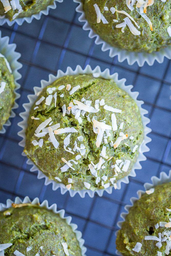Healthy Coconut Kale Green Muffins {vegan} + Recipe Video