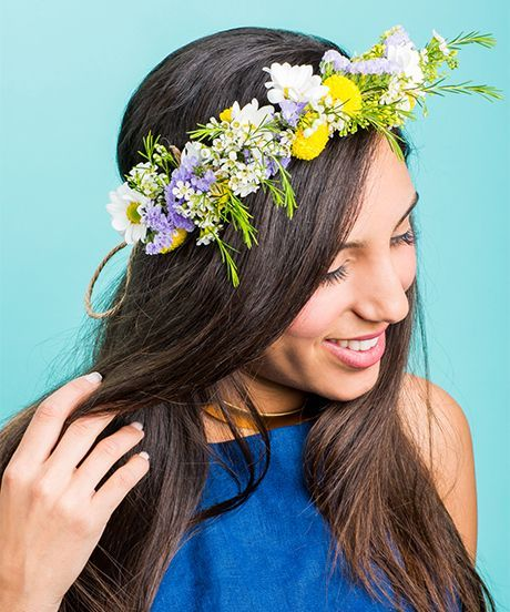 DIY Flower Crown | 12 DIYs That Will Take Your Festival Wardrobe to the Next Level | http://www.hercampus.com/style/12-diys-will-take-your-festival-wardrobe-next-level