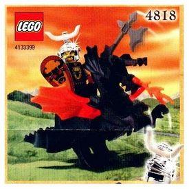 LEGO Knights Kingdom Exclusive Chrome Knight Set #4818 Dragon Rider Very Rare!