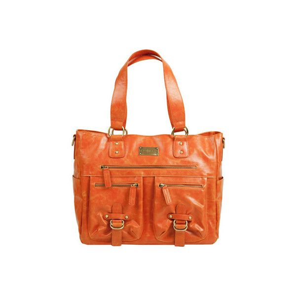 Women's Kelly Moore Bag Libby - Orange Shoulder Bags ($249) ❤ liked on Polyvore featuring bags, handbags, shoulder bags, orange, shoulder strap laptop bag, handbags shoulder bags, over the shoulder laptop bag, handbags purses and man bag