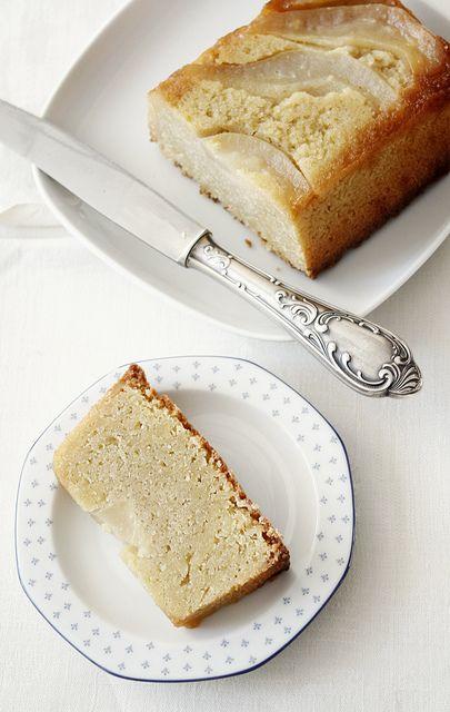 Cake à l'amande et aux poires