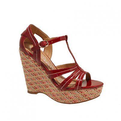 Sandálias de Plataforma Vermelho, Sandálias, Calçado, Mulher | Moda Online | Goodfashion