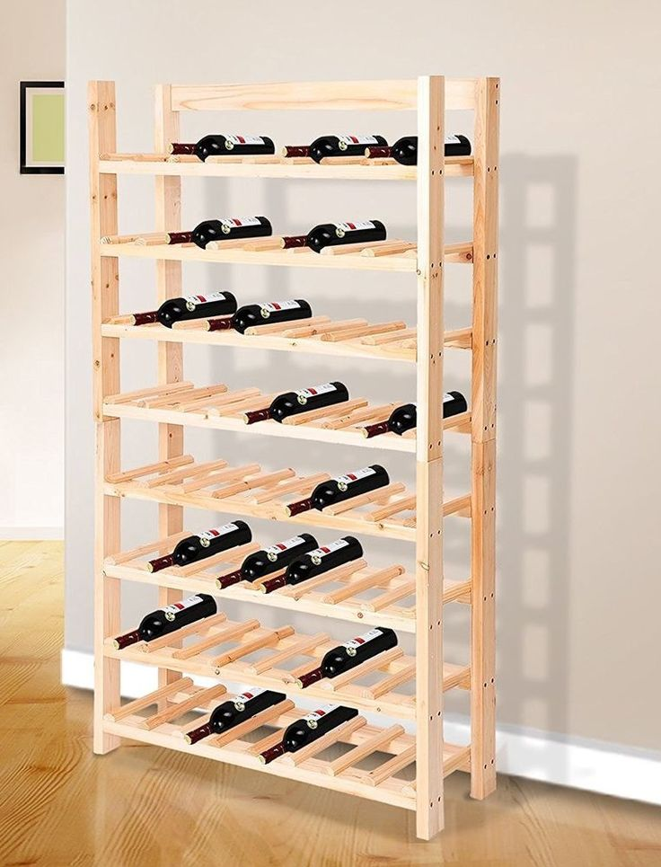 Large Wine Rack Wooden 120 Bottles Stand Bottle Holder Shelves Cellar Kitchen