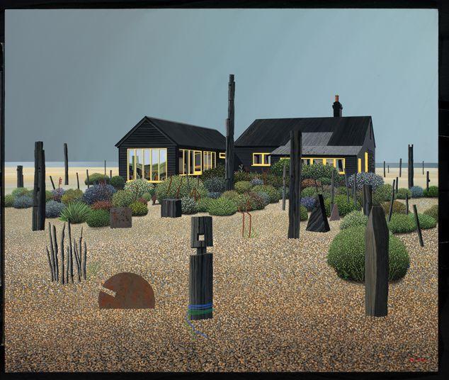 Michael Kidd's haunting painting of Jarman's garden.