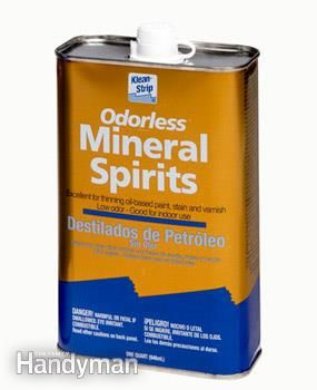 Mineral spirits and paint thinner both work well, but thinner is cheaper