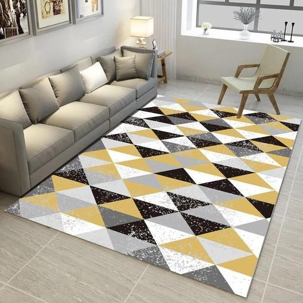 Modern Nordic Memory Foam Rug Funky Home Decor Rugs In Living