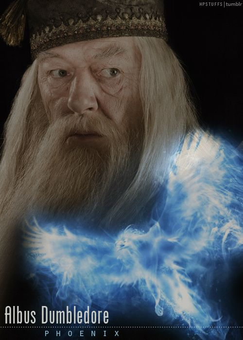 Albus Dumbledore played by Richard Harris - Phoenix....passed away while doing the Harry Potter movies...and the part was fulfilled beautifully by Michael Gambon, pictured here.
