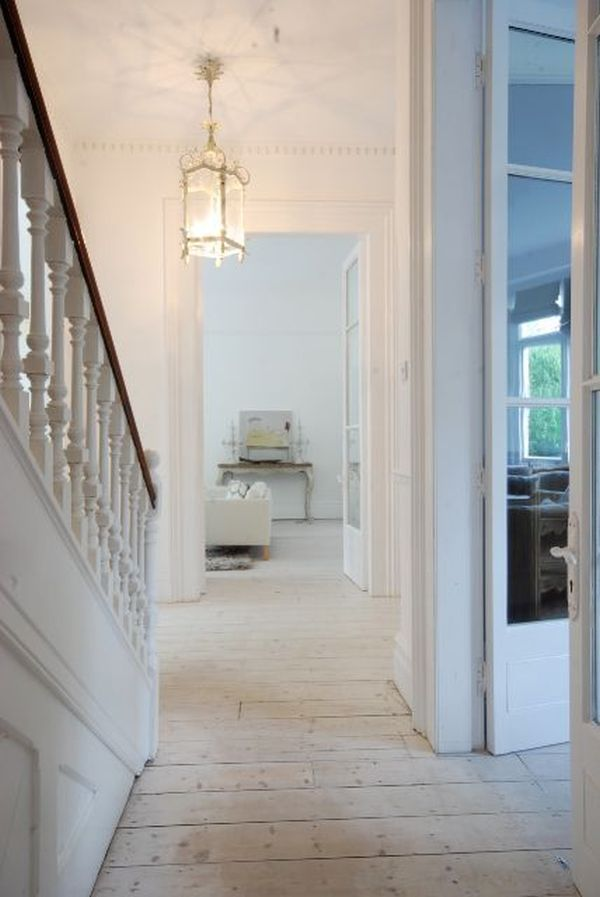 rustic white wooden floors
