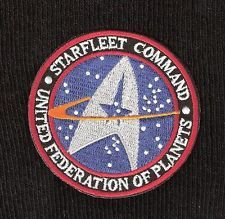 STAR TREK ☆ STAR FLEET COMMAND. Quality Iron On Patch Badge  ☆  Low Postage