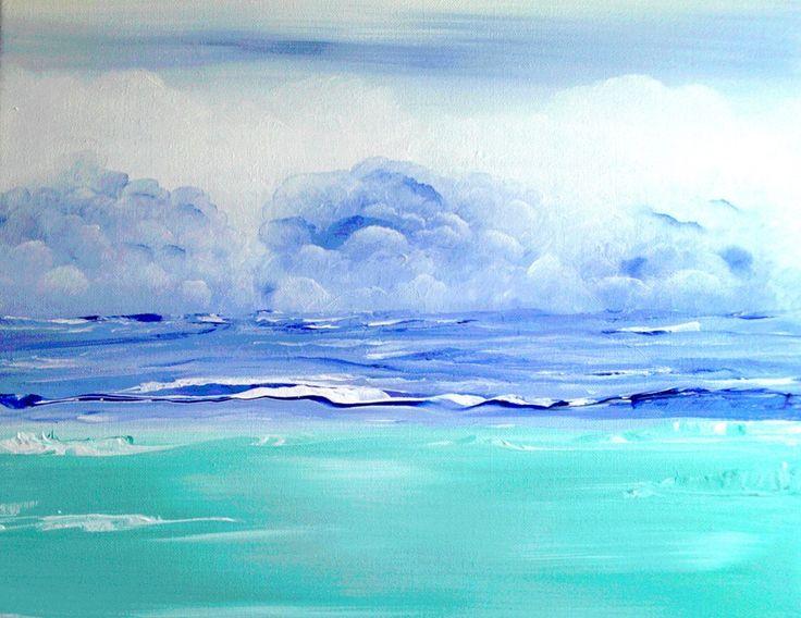 wolken schilderen