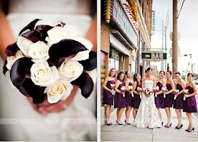 tying the knot {a wedding inspiration blog}: Plum Bridesmaids Dresses {with pockets!}
