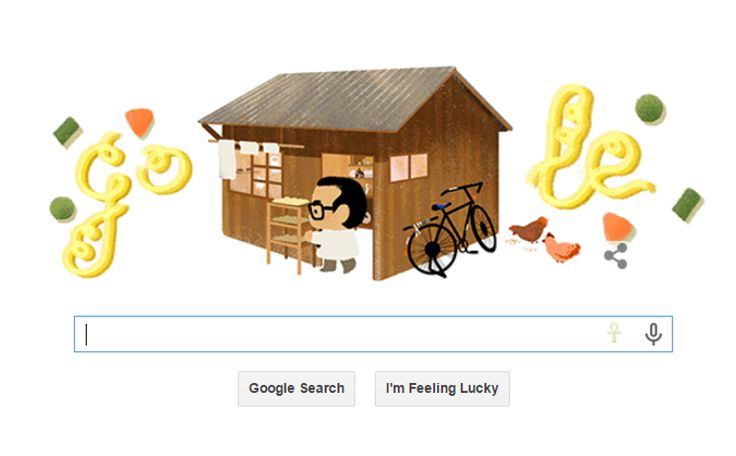 Google is honoring Momofuku Ando today with its Google Doodle. (Photo: Google)