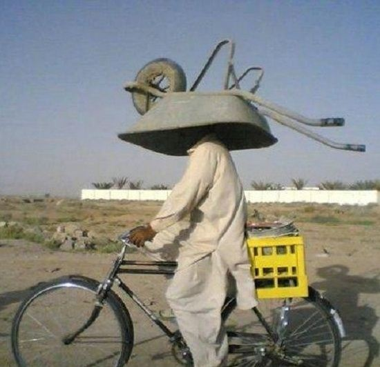 How do you take your wheelbarrow home on your bike?  BelAfrique  -  your personal travel planner  -  www.BelAfrique.com