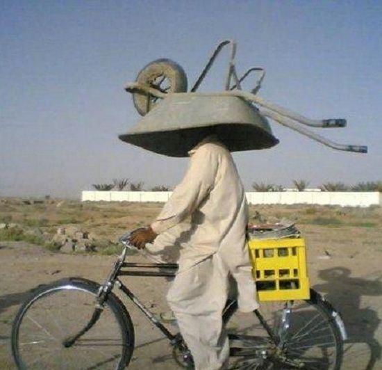 Taking a wheelbarrow home