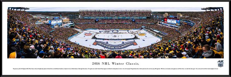 2016 Winter Classic Panoramic Picture Framed- Gillette Stadium Panorama
