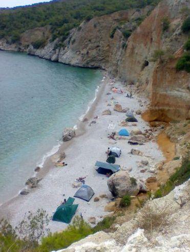 Skliri beach Agistri Island