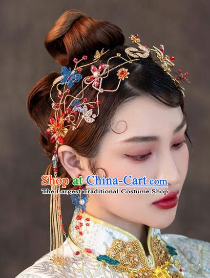 e1adc7e7a Chinese Ancient Handmade Bride Hair Clasp Hairpins Traditional Classical  Wedding Hair Accessories for Women