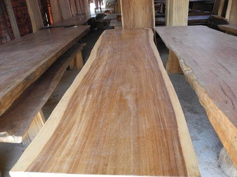 Suar Wood Furniture | Solid Wood Dining Table Slab - YouTube