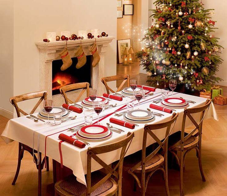 Ideas para decorar y montar la mesa de navidad en tonos rojos, blancos y verdes! El espíritu navideño en tu hogar...