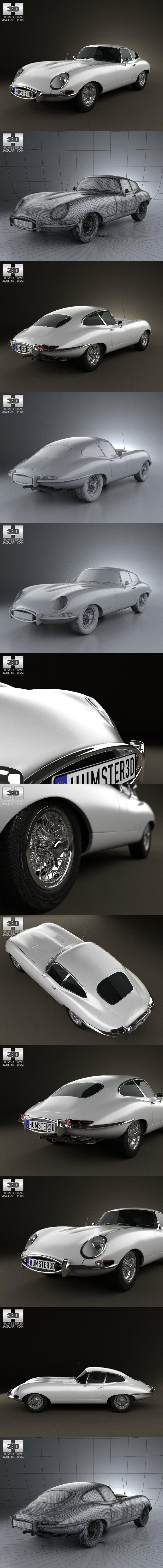 Jaguar E-type coupe 1961. 3D Vehicles