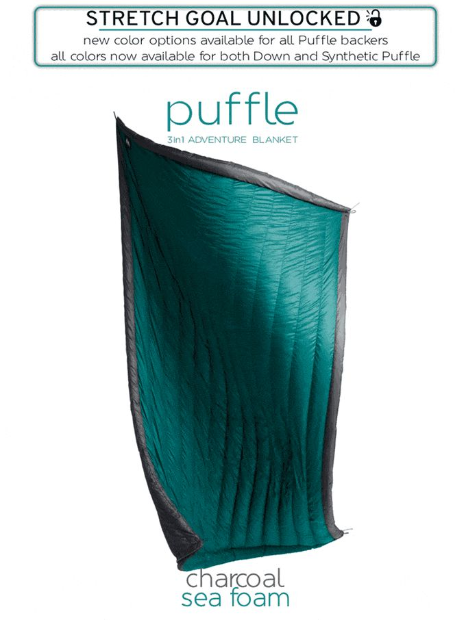 Puffle | the 3 in 1 Adventure Blanket by Sierra Madre Research — Kickstarter