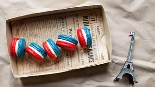 French flag macarons French recipes | SBS Food