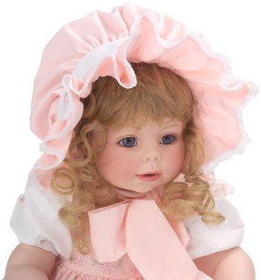Коллекционная кукла фарфоровая - Два лица