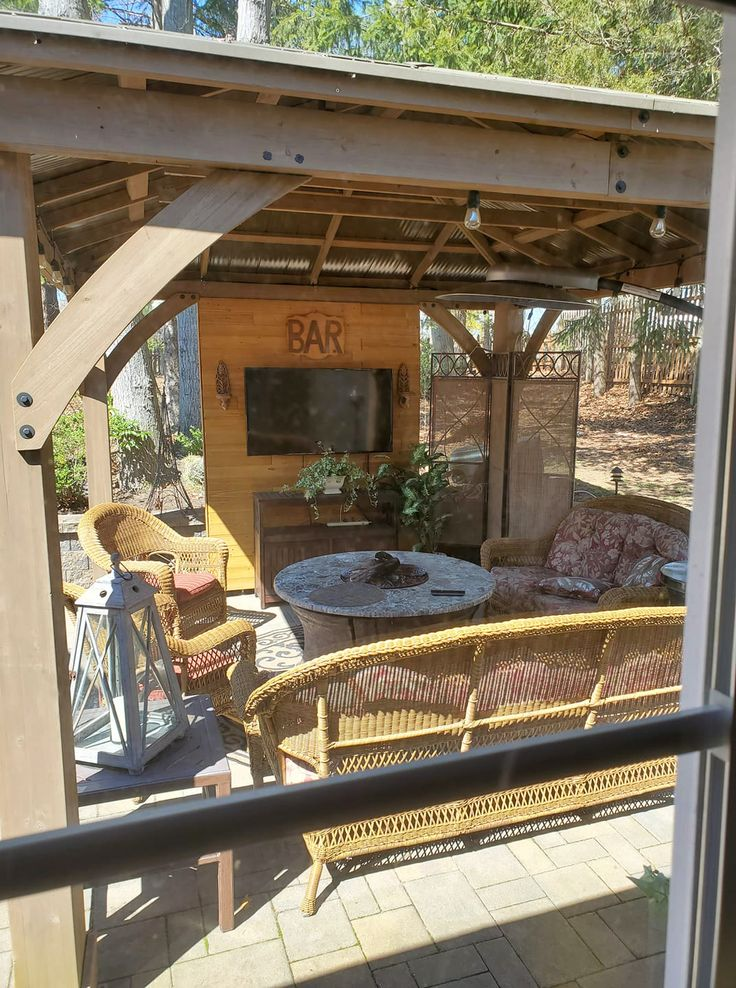10 Inspiring Outdoor Bar Ideas 🍹 - Yardistry Structures ... on Yardistry Backyard Pavilion id=27733