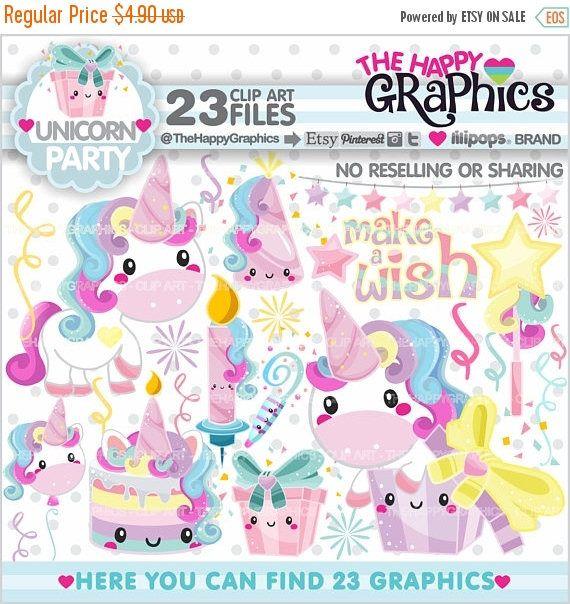 80%OFF - BIG SALE Unicorn Clipart, Unicorn Graphics, Commercial Use, Kawaii Clipart, Unicorn Party, Magical, Magic, Cute Unicorn, Unicorn Il