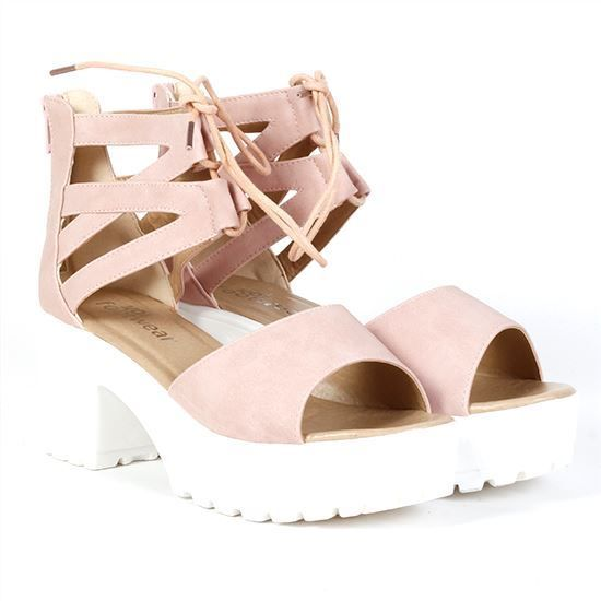 01d4b150d4f7 Festival shoes sorted - add a bit of height to your outfit - pink festival  sandals