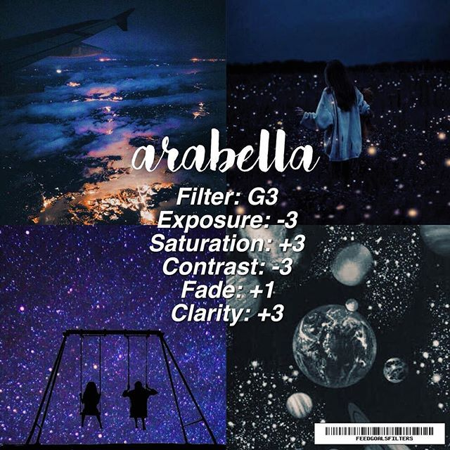 . if you listen to arctic monkey's arabella you know why this is named after it  •• ♡ perfect for: galaxy themed subjects ♡ avoid: bright and tropical images ♡ take: galaxy ootds, or sunsets ♡ note: add magenta as your tint to theme it together which depends on the pic•••  ♡ qotp: waffles or pancakes?
