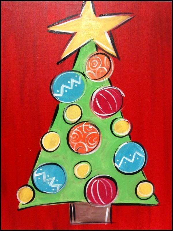 Christmas Paintings For Kids On Canvas.Pin On Christmas Crafts