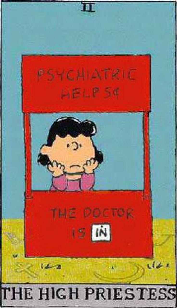 Peanuts Tarot: The High Priestress