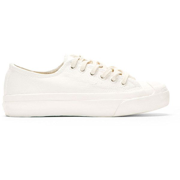 Converse X Maison Martin Margiela White and Red Painted Sneakers found on Polyvore