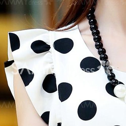 16 best dik images on pinterest floral patterns floral printables stylish flounce cuffs polka dot scoop neck blouse for women fandeluxe Gallery