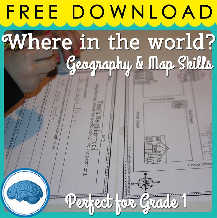 Mini-geography unit for first grade. Great way to introduce their place in the world! #geography #firstgradesocialstudies