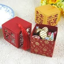 New Double Happiness In Four Side Wedding Favor Box