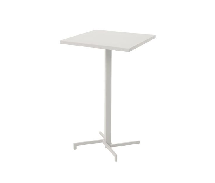 Folding square high table Hpl sheet top 75x75