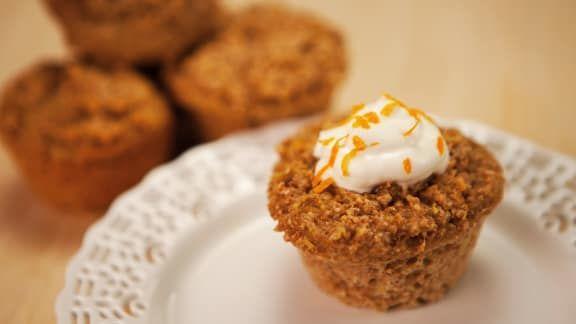 muffins à la courge spaghetti et au miel
