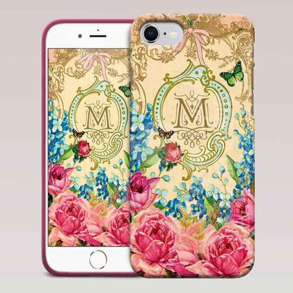 Monogram phone Case for iPhone and Samsung 🌺 🌸 #myprettyphone