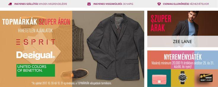 2017. október 31-ig szuper árakon válogathatsz a Desigual, Esprit, Benetton, és Zee Lane márkák közül a Fashion Days webshopjában!!