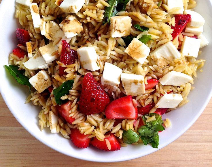 Strawberry, Mozzarella, and Balsamic Pasta Salad