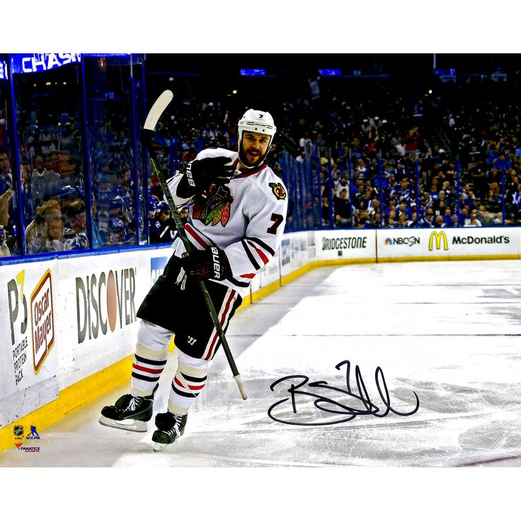 """Brent Seabrook Chicago Blackhawks Fanatics Authentic 2015 Stanley Cup Champions Autographed 8"""" x 10"""" Stanley Cup Finals White Jersey Goal Celebration Photograph - $87.99"""