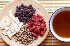 2 tbsp. gotu kola (Centella asiatica)  1½ tbsp. red clover (Trifolium pratense)  1 tbsp. licorice root (Glycyrrhiza glabra)  1 tbsp. ginkgo leaf(Ginkgo biloba)  ½ tbsp. schisandra berries(Schisandra chinensis)  Put all ingredients into a 32 ounce French press or a mason jar.Cover with