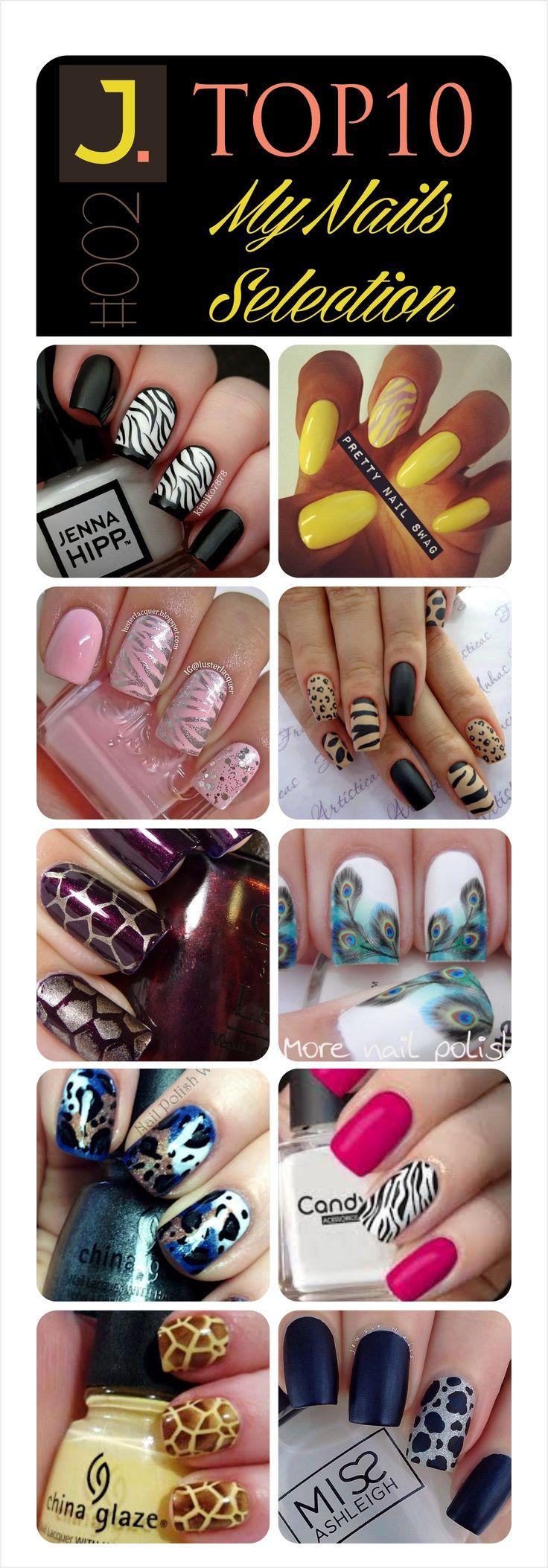 #002 - TOP10 - My Nails Selection @janefranciscomk #thanksforfollowme #followme #animalprint #leopard #nails #nailsart