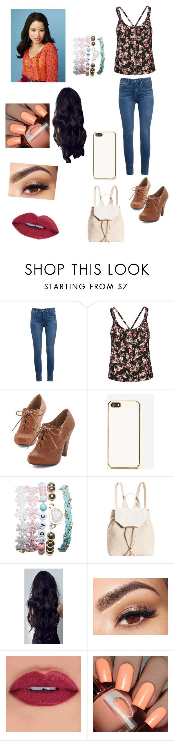 """""""• Mariana Foster •"""" by foreverteenwolf ❤ liked on Polyvore featuring Paige Denim, Mimi Chica, Skinnydip, Wet Seal, Danielle Nicole, Lancôme, TheFosters, cierraramirez and MarianaFoster"""