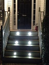 Looks awesome- easy to install, and safety feature!  stair lighting