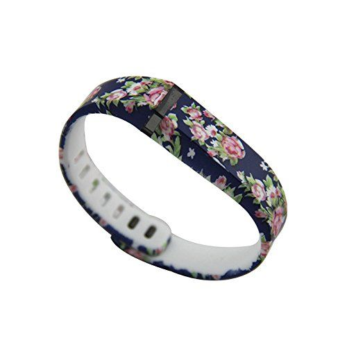 Rasse® Wristband Wrist Band Bracelet with Clasp Replacement Accessory for Fitbit Flex Activity and Sleep Tracker(Only Replacement Band) (Blue flower, Large) Rasse http://www.amazon.com/dp/B00SWQCZQQ/ref=cm_sw_r_pi_dp_.a8Zub1BJBWSV