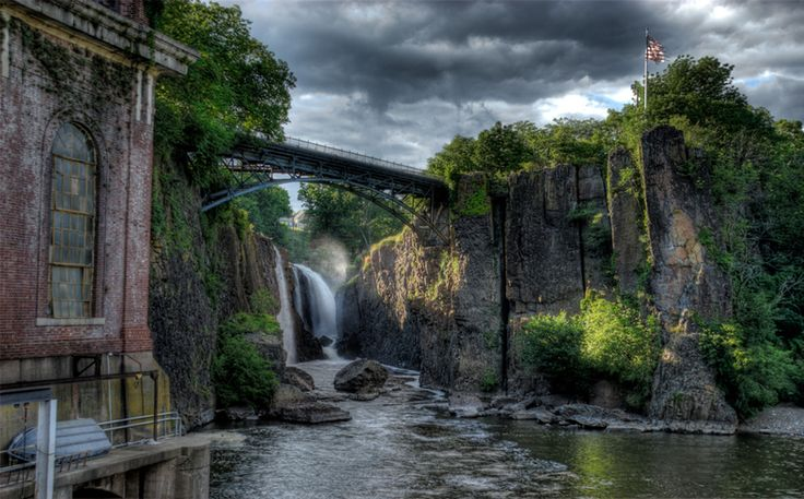 HDR photo of Paterson Great Falls National Park in NJ. I've got to check this place out.  #abandoned #rustlover