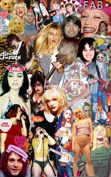90s girl rock star collage from tumblr girl power